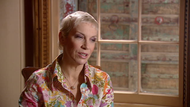 Annie Lennox releases greatest hits album ENGLAND London INT Annie Lennox interview SOT Talks about her musical career and charity work