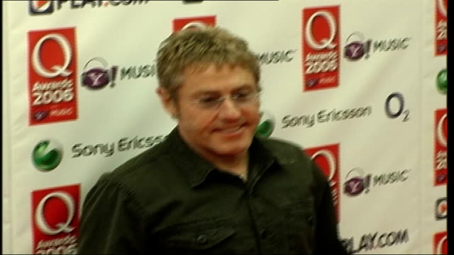 red carpet arrivals; roger daltrey posing for press - roger daltrey stock videos & royalty-free footage