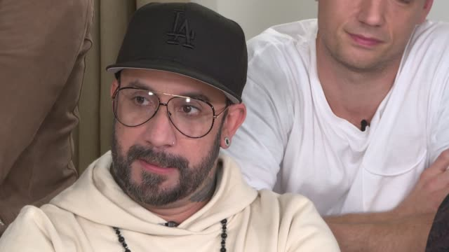 Backstreet Boys interview ENGLAND London INT Backstreet Boys interview SOT More on new single 'Chances' / new album 'DNA'