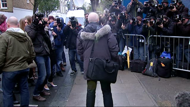 Band Aid 30 Arrivals and Interviews ENGLAND London Bayswater PHOTOGRAPHY*** Midge Ure arriving and talking to press / Ure talking to media NATSOT /...
