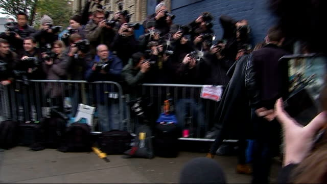 Band Aid remake Do They Know it's Christmas in aid of Ebola victims ENGLAND West London Bayswater PHOTOGRAPHY*** Harry Styles out of car and along to...