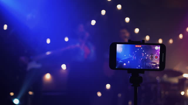 music band performing on stage in night club - pop music stock videos & royalty-free footage