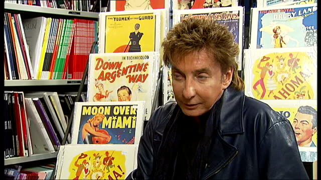 barry manilow interview; barry manilow interview sot - on his fans - doesn't like the nickname 'fanilows' / british fans / very proud of his new... - barry manilow stock videos & royalty-free footage