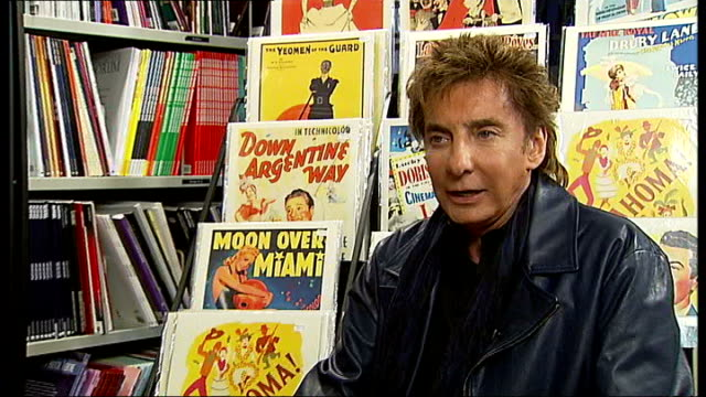 barry manilow interview; england: london: int barry manilow interview sot - on his new album 15 minutes - based on the andy warhol phrase and people... - barry manilow stock videos & royalty-free footage