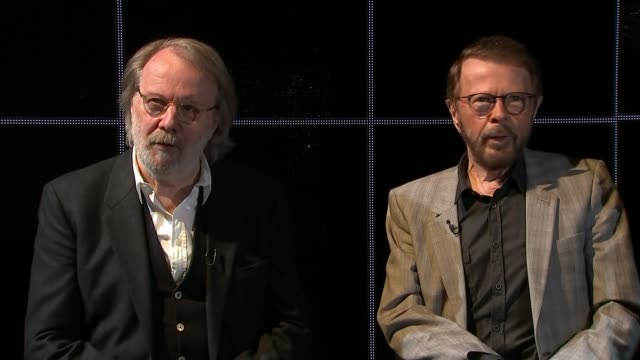 benny andersson bjorn ulvaeus and tim rice interview benny andersson and bjorn ulvaeus interview sot re touring - tim rice stock videos and b-roll footage