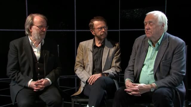 benny andersson bjorn ulvaeus and tim rice interview tim rice interview sot re 'chess' revival cutaway wide shot of stage benny andersson speaking sot - tim rice stock videos and b-roll footage