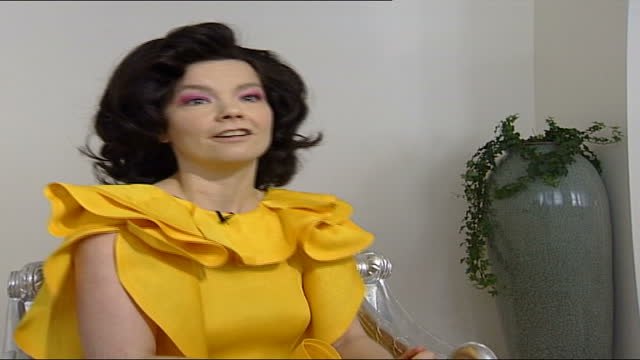 bjork interview; england: london: int bjork being made up bjork interview sot part 1 of 4. - talks of making charity album for unicef which features... - björk stock videos & royalty-free footage