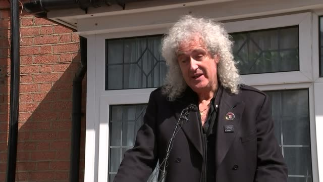 Blue plaque unveiled at Freddie Mercury's childhood home Brian May speaking SOT