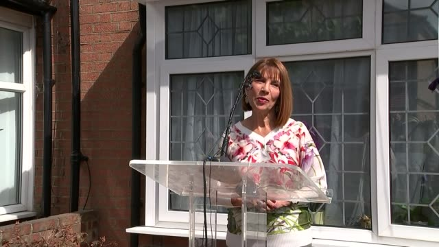 Blue plaque unveiled at Freddie Mercury's childhood home Kashmira Cooke speaking SOT Cooke and May unveiling blue plaque Blue Plaque