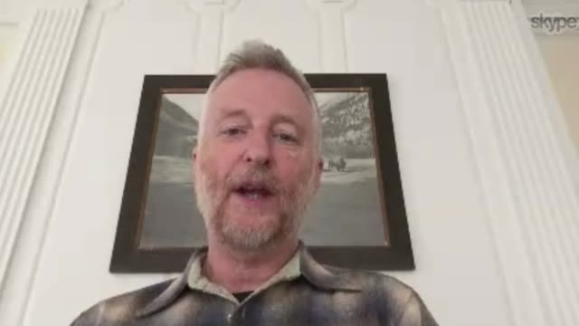 Bob Dylan wins Nobel Prize for Literature ENGLAND London INT Reporter conducting an interview via the internet with singer and songwriter Billy Bragg...