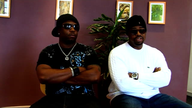 boyz ii men interview boyz ii men interview sot on downloading and the way the industry has changed / on x factor big brother and american idol - american idol stock videos and b-roll footage