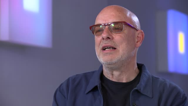Brian Eno interview INT Brian Eno interview SOT re new 'Light Music' exhibition