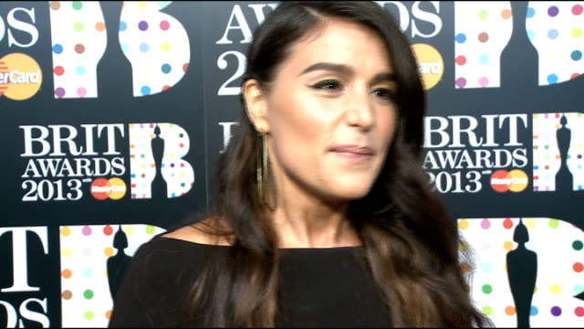 Brit Awards 2013 Arrivals and interviews More Calvin Harris interview SOT / Jessie Ware as interviewed on red carpet / Katherine Jenkins chatting...