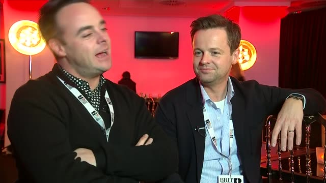 stockvideo's en b-roll-footage met brit awards 2016 ant and dec interview sot you can expect the unexpected going to do our job and let the rest of it take care of itself - ant mcpartlin