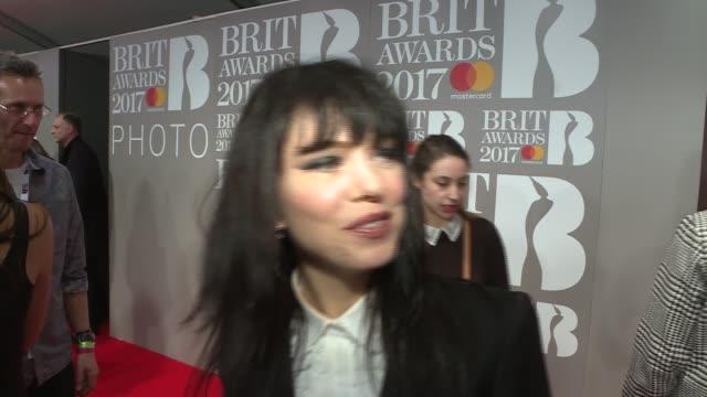 brit awards 2017 red carpet interviews music brit awards 2017 red carpet interviews dan smith interview sot imelda may interview sot calum scott... - goldie stock videos & royalty-free footage