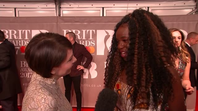 brit awards 2017 red carpet interviews music brit awards 2017 red carpet interviews jonas blue and dakota interview sot interview sot emeli sande... - stormzy stock videos and b-roll footage