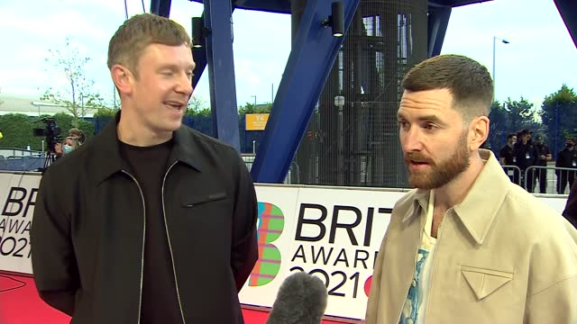 brit awards 2021: red carpet interviews; england: london: north greenwich: the o2 arena: ext bicep interview sot / - muscular build stock videos & royalty-free footage