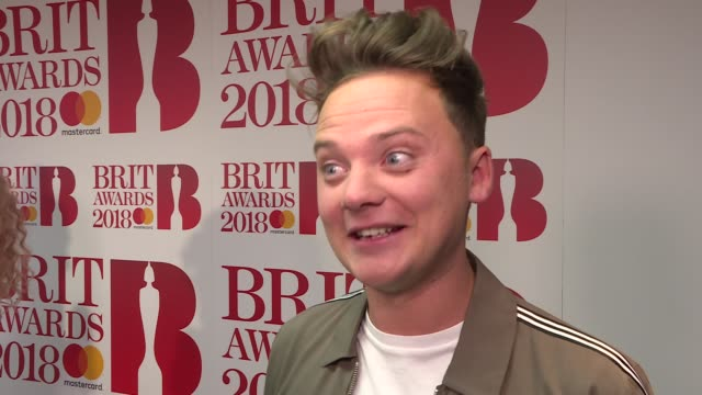 brit awards nominations launch 2018 red carpet conor maynard interview sot raye interview sot rag'n'bone man gvs / emma willis gvs - ブリット・アワード点の映像素材/bロール