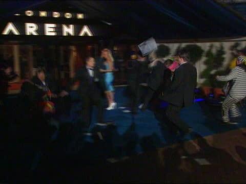 prescott soaking:; a) nat: england: london: heathrow: int side danbert nobacon of group chumbawamba who threw water over deputy pm john prescott mp... - fashionable stock videos & royalty-free footage