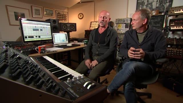 british dance music group orbital reform; paul and phil hartnol interview sot - orbital band stock videos & royalty-free footage