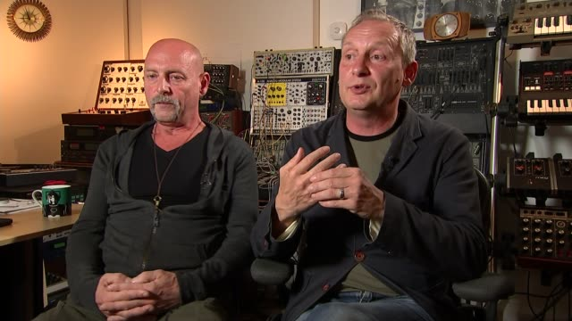 british dance music group orbital reform; paul and phil hartnol interview continues sot - orbital band stock videos & royalty-free footage