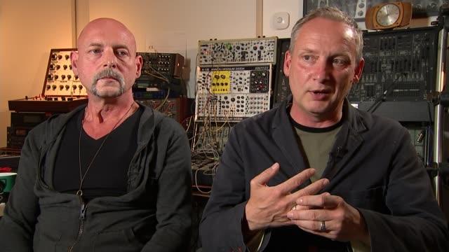 british dance music group orbital reform; paul hartnol interview continues sot - orbital band stock videos & royalty-free footage