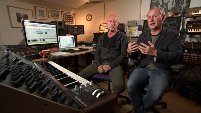british dance music group orbital reform; paul hartnol interview sot - orbital band stock videos & royalty-free footage