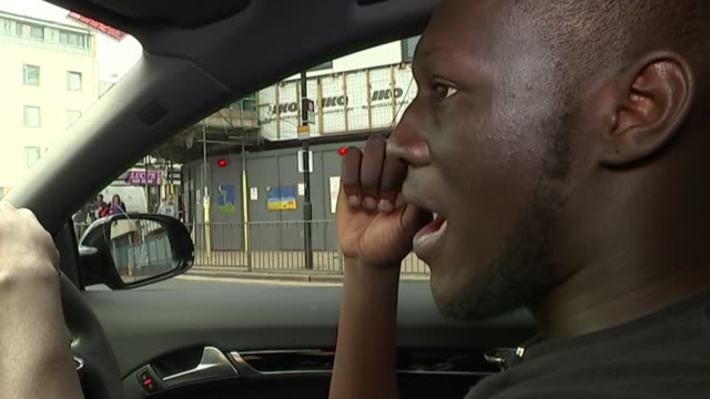 british rapper stormzy stormzy interview continues sot - stormzy stock videos and b-roll footage