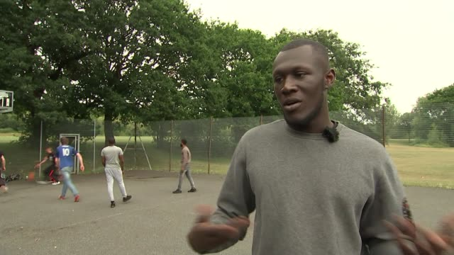 british rapper stormzy stormzy interview sot talks about his rap shut up - stormzy stock videos and b-roll footage