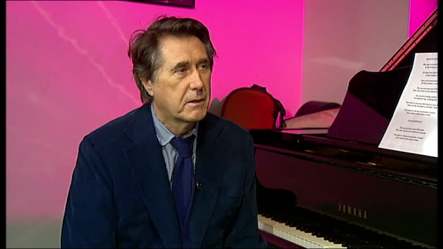 bryan ferry on his new jazz album ** music heard over following shots ** ferry interview sot wasn't obvious which songs to pick for jazz album music... - アルバムのタイトル点の映像素材/bロール