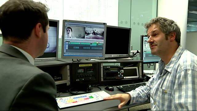 campaign to get rik mayall world cup song to number one; england: london: jon morter talking to reporter - rik mayall bildbanksvideor och videomaterial från bakom kulisserna
