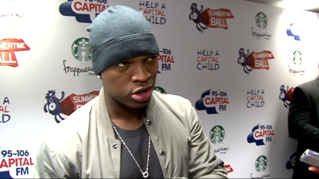 capital fm summertime ball 2011 celebrity interviews neyo interview sot on making album number 5 it's more personal shows his 'ugly' side / focusing... - number 5 stock videos & royalty-free footage