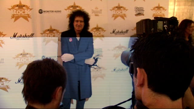 'Classic Rock Roll of Honour 2009' Awards Ian and Aday speaking to reporters / Steve Harley speaking to reporters / Brian May posing for photocall *...