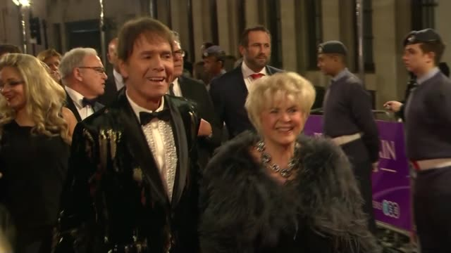 cliff richard attends pride of britain awards 2016 england london sir cliff richard along red carpet with gloria hunniford at pride of britain awards... - cliff richard stock videos and b-roll footage