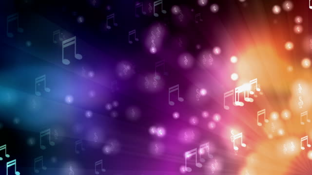 music colorful background - musical note stock videos & royalty-free footage