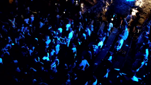 music concert crowd - concert hall stock videos and b-roll footage