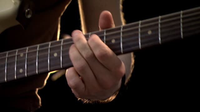 music concert guitarist. guitar player on stage. - performance stock videos & royalty-free footage