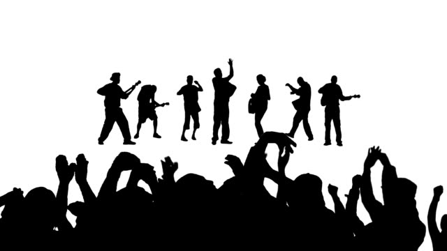 music concert - in silhouette stock videos & royalty-free footage