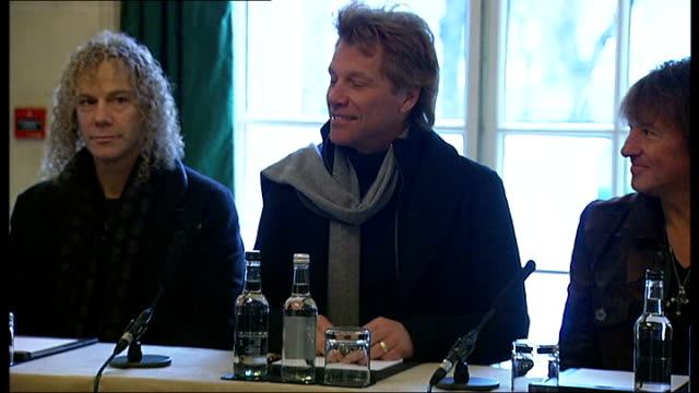 Music concerts transfer from Hyde Park to Queen Elizabeth II stadium London Mayfair INT Jon Bon Jovi press conference SOT we'll turn it all up and...