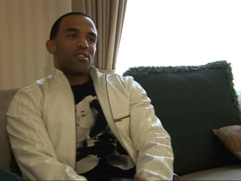 """craig david interview; england: london: int craig david interview sot - on new single """"officially yours"""" and how the audience has been responding to... - acting performance stock videos & royalty-free footage"""