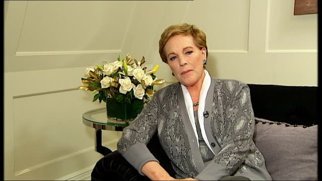 dame julie andrews announces 2010 london concert julie andrews interview sot on not being able to sing exactly as she used to - julie strain stock videos and b-roll footage