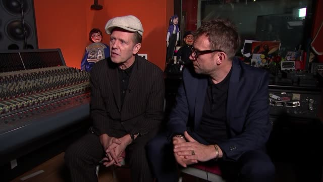 damon albarn supergroup the good the bad and the queen release new album 'merrie land' england london int paul simonon interview sot - cd発売点の映像素材/bロール
