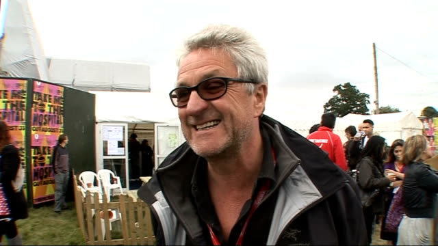 day 2 of reading festival 2009 interviews melvin benn interview sot talks about festival being fantastic so far massive planning needed for festival... - reading and leeds festivals stock videos & royalty-free footage