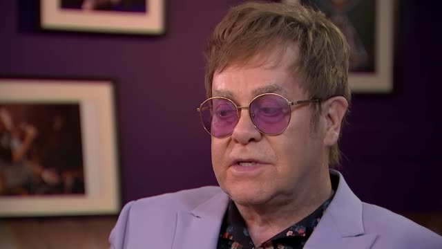 Elton John interview on the fight against Aids and Brexit NETHERLANDS Amsterdam INT Sir Elton John and David Furnish interview SOT On HIV and Aids /...