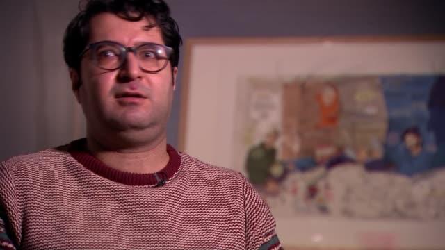 elton john's 'rocketman' reimagined as refugee narrative in music video by iranian film animator; england: london: king's cross: house of... - animator stock videos & royalty-free footage