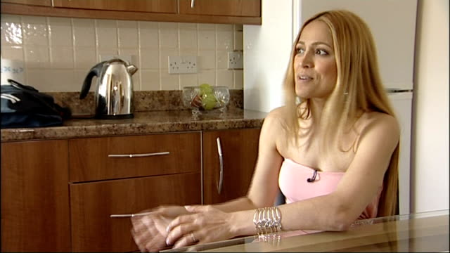eurovision winner returns to family life in london; int nikki jamal interview sot - eurovision song contest stock videos & royalty-free footage