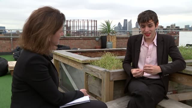 ezra furman interview ezra furman interview sot sometimes does takea a toll not all therapeutic on truthfulness of music on his non traditional... - bisexuality stock videos and b-roll footage