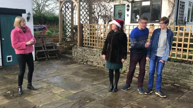family release green christmas song; england: int toby l'estrange and harry l'estrange interview sot ext harry l'estrange playing cricket alexander... - perfection stock videos & royalty-free footage