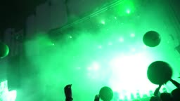 Music festival dancing