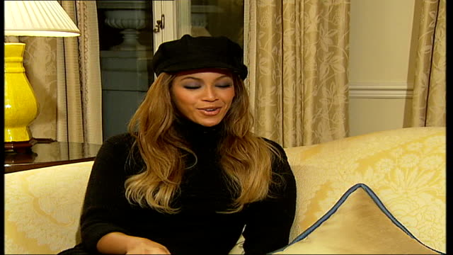 beyonce interview; beyonce interview sot - time going very fast / touring next year and performing her songs and destiny's child classics fade - destiny's child stock-videos und b-roll-filmmaterial